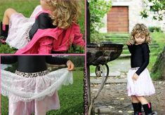 Little Audrey Girl's Skirt - Make a skirt for girls with this cute lace sewing idea. This kids clothing pattern is easy to make and insanely adorable.