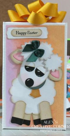 Lamb punch art Stampin' Up! Paper Punch Art, Punch Art Cards, Arte Punch, Holiday Cards, Christmas Cards, Craft Punches, Creative Cards, Kids Cards, Greeting Cards Handmade