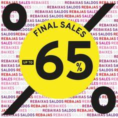 ¡¡ FINAL SALES HASTA EL 65% !! Las mejores REBAJAS del verano continúan en MARYPAZ.com. Ahora aprovéchate de las REBAJAS con descuentos de hasta el 65% en muchos de los artículos de la colección Spring - Summer 2015. ¡No esperes mas y hazte ya con tus favoritos de esta temporada con hasta el 65% de descuento! ►► FINAL SALES hasta el 65% dto. Visita tu tienda MARYPAZ más cercana o entra ya en nuestra Online Store y disfruta de hasta el 65% de descuento en muchos de nuestros productos !!!