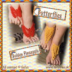 crochet barefoot sandals free pattern - Google Search