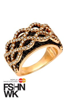 oh-my-gah-becky.........I NEED THIS!! one day...White & Black Diamonds in Rose Gold....