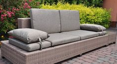 Meble ogrodowe Home&Garden Sofa MILANO Brown Light 2w1 | MALL.PL