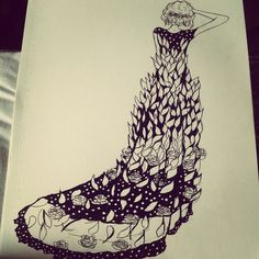 #Drawing #dress #design