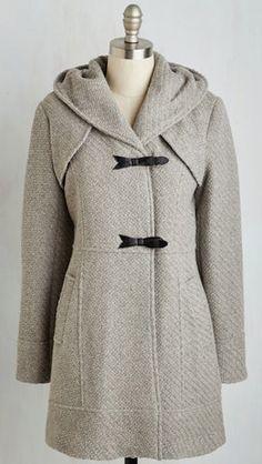 warm grey toggle coat