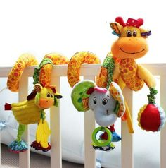 Hot sale lovely infant toy baby crib revolves around the bed stroller hanging Development educational toy Rattle Mobile Teether