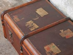 Steamer Trunk similar to the Scaramanga trunk currenltly in Dumbo Vintage Trunks, Vintage Suitcases, Vintage Steamer Trunk, Dumbo Movie, Brown Texture, Travel Luggage, Vintage Travel, Vintage Furniture, 1930s