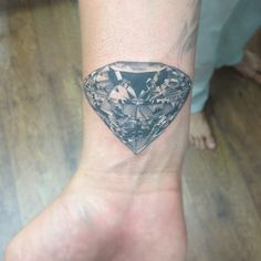 Epic Diamond.  mattroetattoo  Not digging (Get it? Digging? Because...diamond...yeah) this tattoo, but this artist has mad talent.
