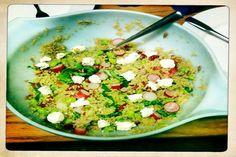 Spring Quinoa and Kale Avocado Salad