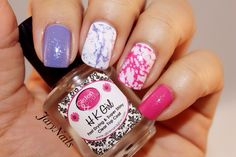 Nail splatter. Very simple and pretty!