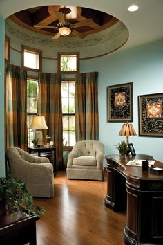 Luxury Custom Home Den or Office interior design ideas and home decor