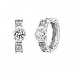 Stříbrné náušnice kroužky se zirkonem 3 mm Engagement Rings, Watches, Silver, Accessories, Jewelry, Rings For Engagement, Wrist Watches, Wedding Rings, Jewlery