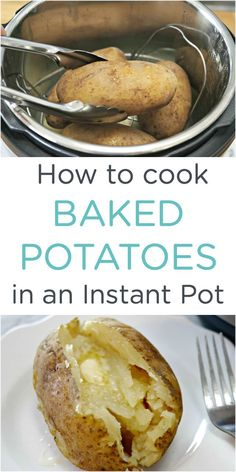 How to cook easy Instant Pot Baked Potatoes via @Mom4Real