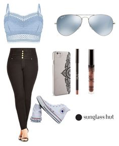 """Shades of You: Sunglass Hut Contest Entry"" by mkay1987 on Polyvore featuring Ray-Ban, Lipsy, City Chic, Converse, Nanette Lepore and shadesofyou"