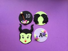 Maleficent party cupcake toppers!   https://www.etsy.com/listing/198209382/12-maleficent-party-fondant-cupcake?ref=shop_home_active_2