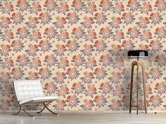 Design #Tapete Hochsommer Blumen
