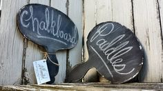 VINTAGE CHALKBOARD PADDLES, Wedding Decor, Photo Props, Mr & Mrs, Thank You Cards, Set of 2, Shabby Chic Chalk Board, Photography Props