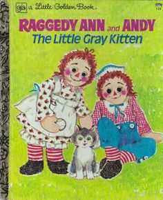 """Raggedy Ann and Andy""  Little Golden Book. Recycled Book Journal. Just $14. All Golden Books include the entire text included with the finished journal. Also? Bonus!!! I will, upon request, make a video of me reading ANY golden book to you and post said video to YouTube. Just make a note in checkout page. Here's a link to the Golden Book section of our website: http://bookjournals.com/journals/little-golden-books Or, you know, just click on this image. Love, Jacob"