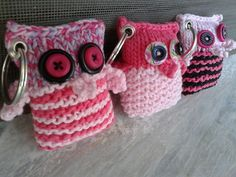 Athele's Gifts for teachers Owl Ornament, Ornaments, Key Rings, Teacher Gifts, Knits, Knitting, Projects, Key Holder Job, Key Fobs