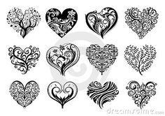 Coeurs de tatouage