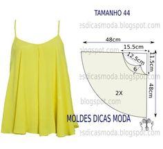 Faça a analise de forma detalhada do desenho do molde de blusa godé. Esta blusa é simples e bela, veste de forma descontraída e elegante.
