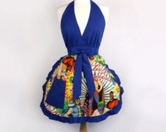 Handmade heavy-duty  novelty print apron  Lucha by QUETZALboutique