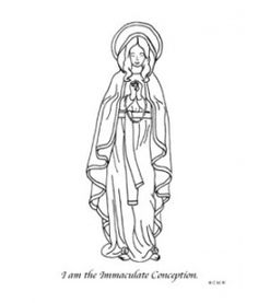 Immaculate Conception Catholic coloring page Feast day is