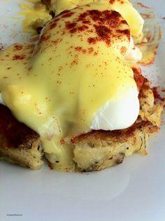 "Fish cakes Eggs Benedict #travel ""Photo by TurnipseedTravel.com"""