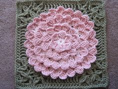 Mum In Treble Afghan Square by Julie Yeager