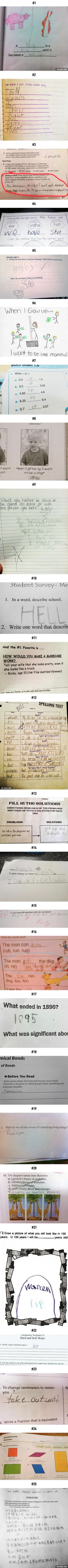 Funny Test Answers From Smart Ass Kids Borderline Genius - 16 smart ass kids who are clearly going places