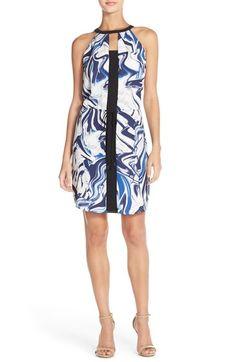 Adelyn Rae Print Chiffon Sheath Dress available at #Nordstrom