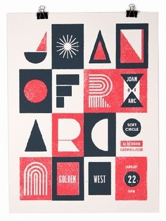 CHRISTOPHER MUCCIOLI - Very interesting modular style typographic poster created through potato printing. Although it is meant to say something I feel it is far too abstract to be realistically interpreted. An interesting concept however and visually impacting.