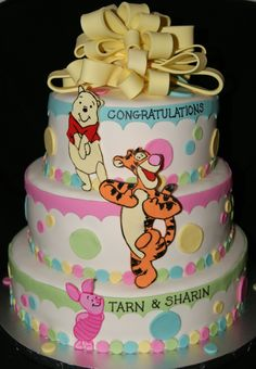 Winnie the Pooh baby shower cake... love this one! But without so much pink.