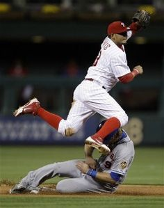 Philadelphia Phillies storyline: what to expect   ................        Jimmy Rollins defines leadership for the Philadelphia Phillies.  Questions for Jimmy:   How many singles equal a homerun?  3 or 4?  Will small ball be the Titanic for the skipper?   .............     Enjoy the article.