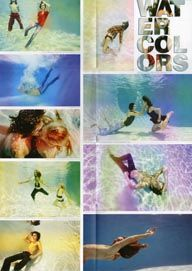 Watercolors fashion editorial in Qlix issue 1. Photography: Ari Abramczyk  Underwater Fashion Photography