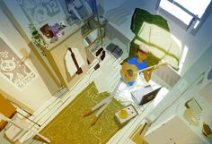 Another Pascal Campion artwork entitled 'Saturday Morning'. Says it all really.