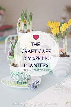 How To Decoupage And Decorate Pretty Spring Planters - Heart Handmade uk