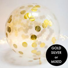 Jumbo Metallic Confetti Balloon