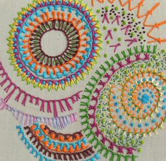 SMockerySmArt's TASTy Bits - experiments with embroidery stitches: TAST 2010 - knotted buttonhole stitch - UPDATED