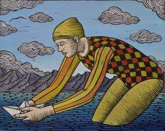 "TP Vorster, ""The Wish"" artvark.org Printmaking, Artworks, Prints, Painting, Art Pieces, Painting Art, Printing, Graphics, Paintings"