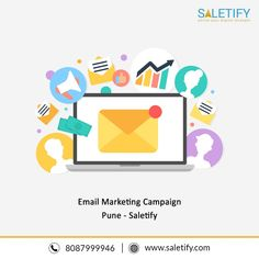 Email Advertising Pune - Saletify Saletify provides best email advertising in Pune. We help you to increase your brand recognition and your customer relations, by connecting with your target market. Email Marketing Companies, Email Marketing Campaign, Internet Marketing, Best Email, Pune, Digital Marketing, Target, Advertising, Target Audience