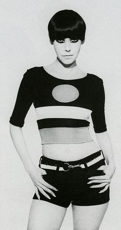 With her Vidal Sassoon 'five point' haircut and Kabuki make-up, Californian model Peggy Moffitt was a Swinging Sixties icon and muse to designer Rudi Gernreich. When Gernreich died, he willed the legal rights to his designs to Moffitt.