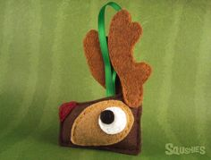 Rudolph Reindeer Ornament, Felt Animal