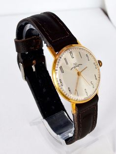 Men's Deluxe Vintage Watch LUCH Gold-plated USSR, Rare Luxury Soviet Watch #Luch #LuxuryDressStyles #Luch #Luxury #Gold #watch #giftsforhimhim #giftsforher #vintage #fathersday