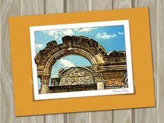 Ephesus Turkey  blank greeting or note card by AwfullyNiceDesigns