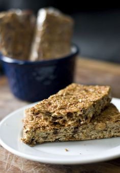 Homemade Healthy Granola Bars - Made, turned out great (Blended the banana with honey + vanilla in Magic Bullet to save some time too...)