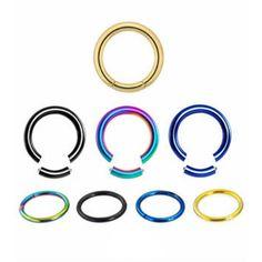 Segment ring. 1,2mm de grosor. Acero quirúrgico. Puede girarse 360º ya que es completamente liso. Varios diámetros. Ideal para uso en tu piercing de ceja, labio, nariz, oreja. Es una pieza muy versátil! 3.38