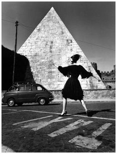 Dorothea in a dress by Capucci, photo by William Klein, Rome, 1962