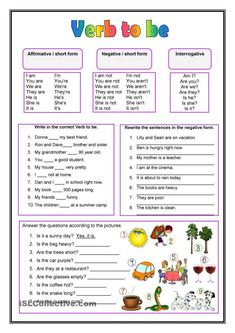 Awesome Verb Be Worksheets that you must know, Youre in good company if you?re looking for Verb Be Worksheets English Grammar Worksheets, Verb Worksheets, English Verbs, Kids English, English Lessons, English Vocabulary, Learn English, Printable Worksheets, French Lessons