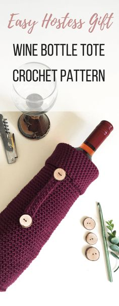 How To Make A Crochet Wine Bottle Cover That Will Be The Best Hostess Gift