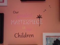 Kids' art wall, inspired from: http://community.provocraft.com/Cricut-Community_postst29529_Wall-Art.aspx